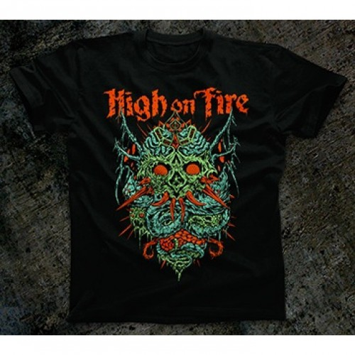Season of mist high on fire skinner t shirt stoner for On fire brand t shirts