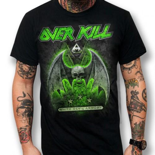 Overkill White Devil Armory T Shirt Thrash