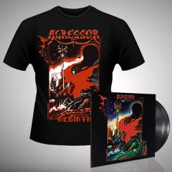 Agressor - Rebirth - Double LP gatefold + T-shirt bundle (Men)