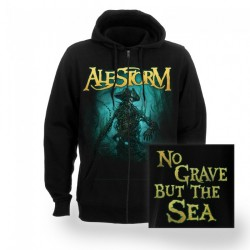 Alestorm - No Grave But The Sea - Hooded Sweat Shirt Zip (Men)