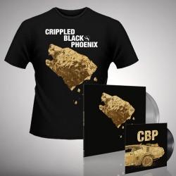 """Crippled Black Phoenix - Bundle 4 - Double LP gatefold coloured + 7"""" vinyl + T-shirt (Men)"""