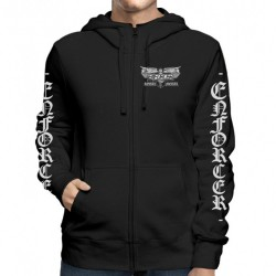 Enforcer - Death By Fire - Hooded Sweat Shirt Zip (Men)