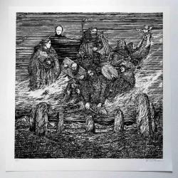Enslaved - Vetrarnott - Serigraphy