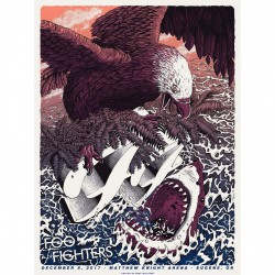Foo Fighters - Matthew Knight Arena - Lithograph