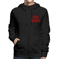 Iron Reagan - Red Logo - Hooded Sweat Shirt Zip (Men)