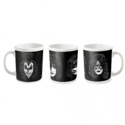 Kiss - Faces (White) - MUG