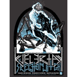 Kvelertak - Kvelertak / Skeletonwitch / Barn Burner / Turbid North / Battlecross - Screen print
