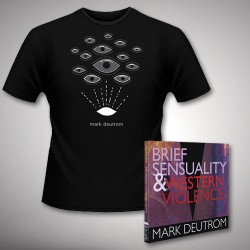 Mark Deutrom - Brief Sensuality & Western Violence - CD DIGISLEEVE + T-shirt bundle (Men)