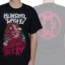 Municipal Waste - Headbanger Face Rip - T-shirt