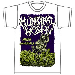 Municipal Waste - Massive Aggressive [white] - T-shirt (Men)