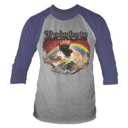 Rainbow - Rising Distressed (Tour 2017) - Baseball Shirt 3/4 Sleeve (Men)