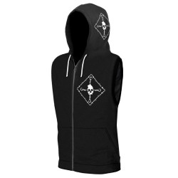 Revenge - Total Rejection - Sleeveless Zip Hoodie (Men)