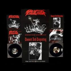 "Sadistik Exekution - Doomed And Disgusting - Sadistikly Disgusting - The Devil Down Under - 7"" vinyl"