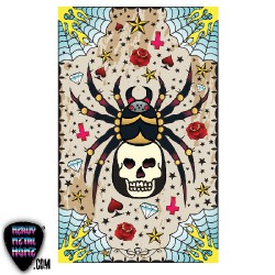 Tattoo & Vintage - Spider Tattoo - Beach Towel