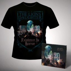 The Lion's Daughter - Existence Is Horror - CD DIGIPAK + T-shirt bundle (Men)