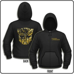 Transformers - Gold Autobot Shield - Hooded Sweat Shirt Zip (Men)