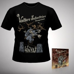Vulture Industries - Stranger Times - CD DIGIPAK + T-shirt bundle (Men)