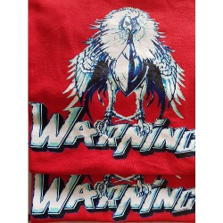 Warning - Red - T-shirt (Men)
