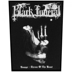 Black Funeral - Vampyr - Throne Of The Beast - BACKPATCH
