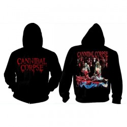 Cannibal Corpse - Butchered At Birth - Hooded Sweat Shirt Zip (Homme)