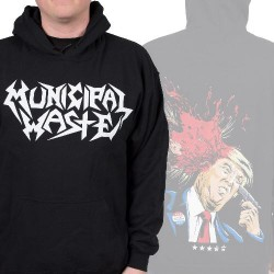 Municipal Waste - Trump Walls Of Death - HOODED SWEAT SHIRT (Men)