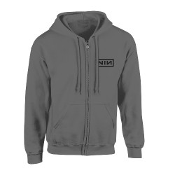 Nine Inch Nails - Classic Black Logo - Hooded Sweat Shirt Zip (Homme)
