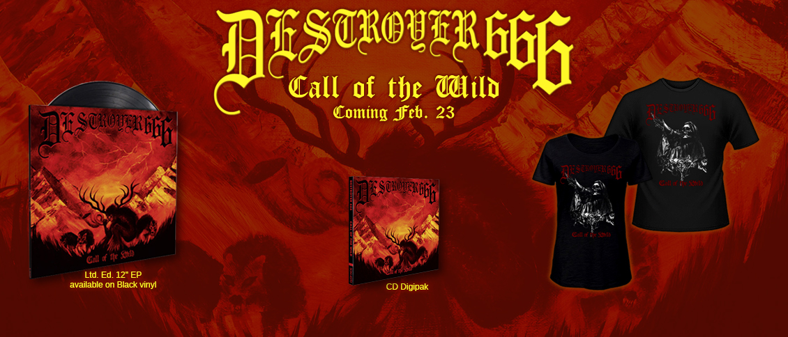Deströyer 666 'Call of the Wild' pre-order new EP