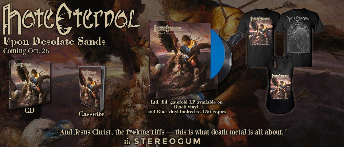 Hate Eternal - 'Upon Desolate Sands' new album pre-order