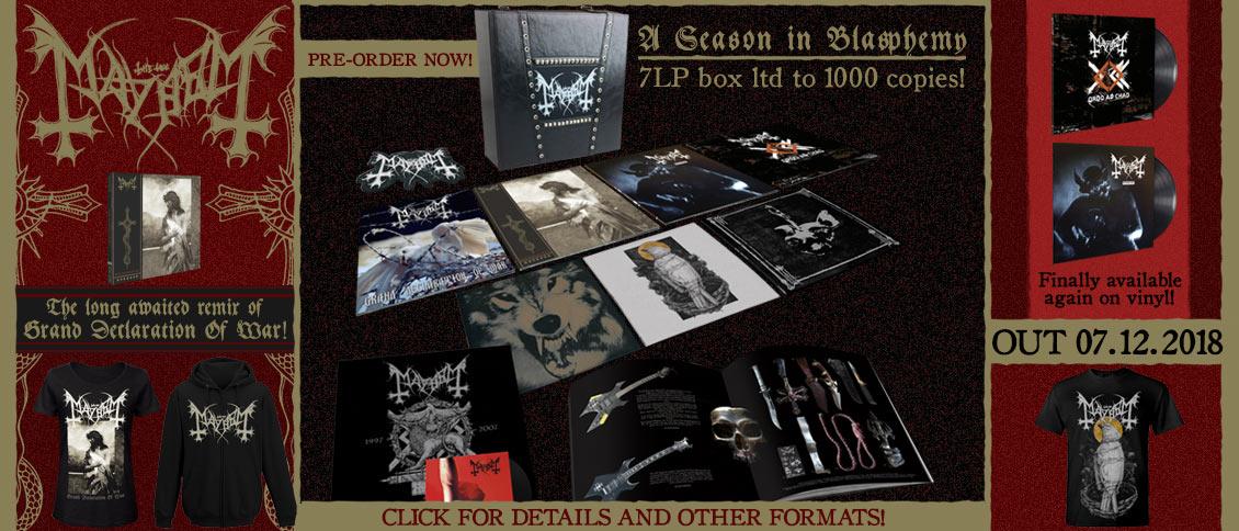 Mayhem 'Grand Declaration Of War' remix pre-order