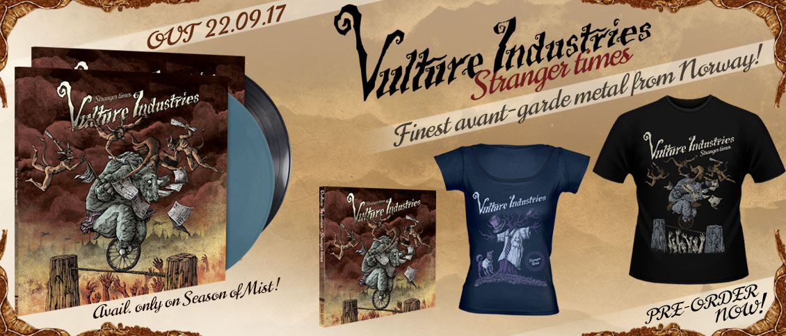Vulture Industries Stranger Times pre-sale new album on pre-order