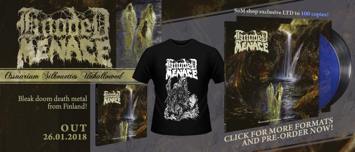 Hooded Menace new album pre-order Ossuarium Silhouettes Unhallowed