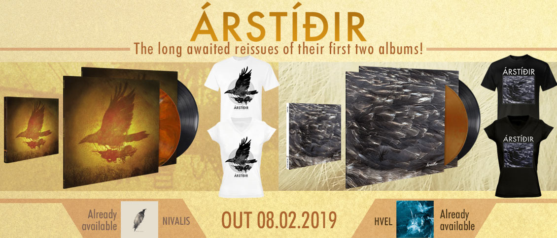 Arstidir first 2 albums reissues on pre-order