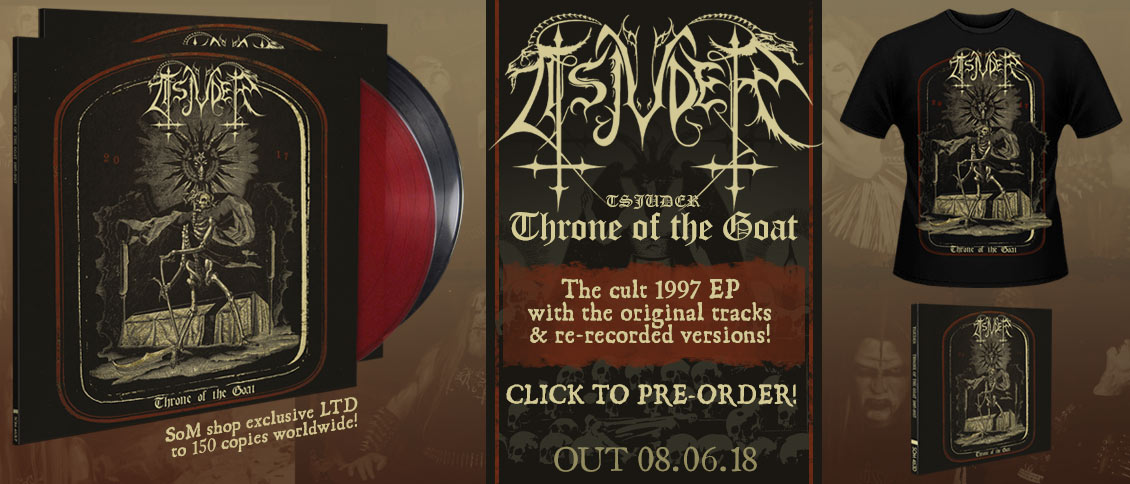 Tsjuder  - Throne of the Goat EP reissue pre-order