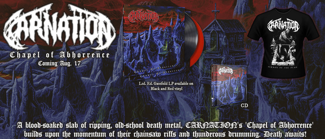 Carnation new album Chapel Of Abhorrence pre-order
