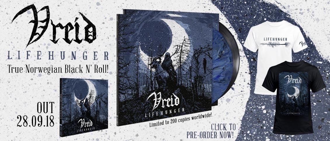 Vreid 'Lifehunger' new album pre-order