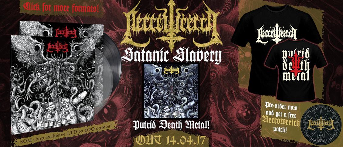 Necrowretch Satanic Slaver new album pre-sale pre-order