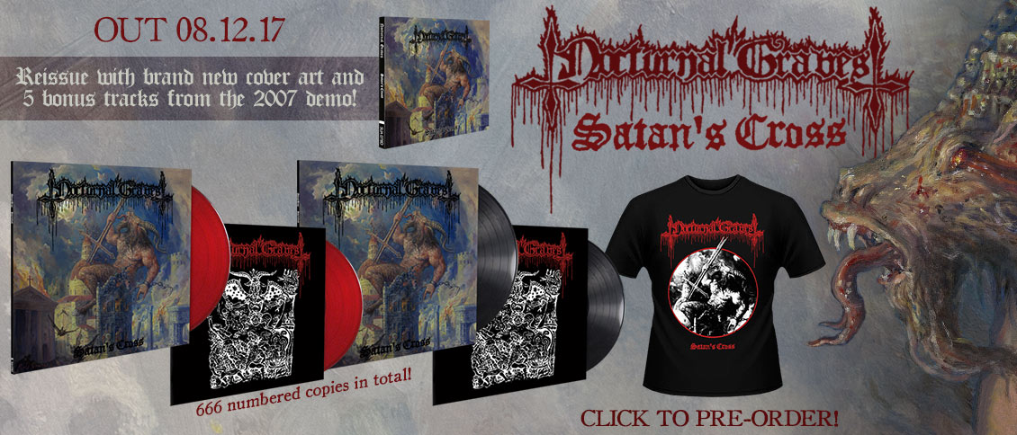Nocturnal Graves Satan's Cross pre-order reissue bonus tracks