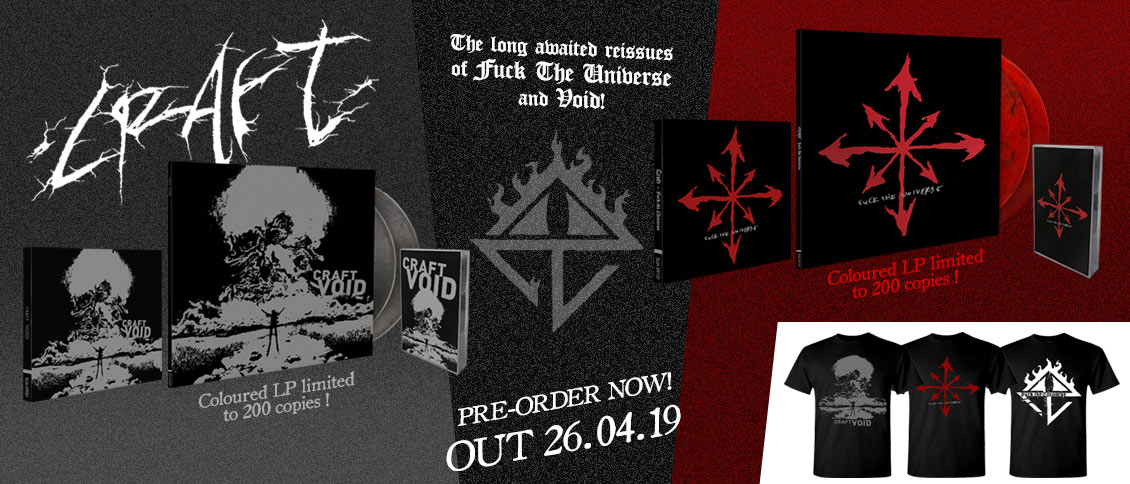 Craft Fuck The Universe and Void reissues pre-order