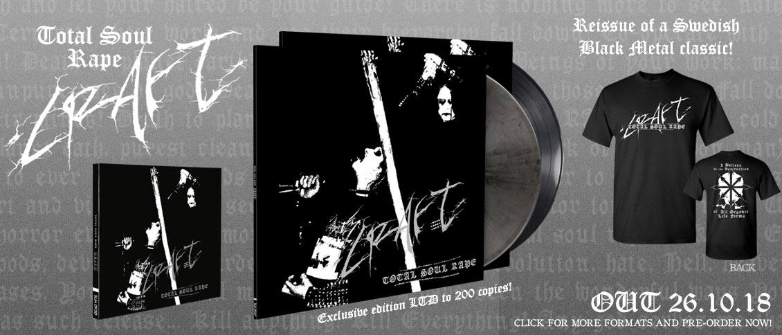 Craft Total Soul Rape reissue pre-order